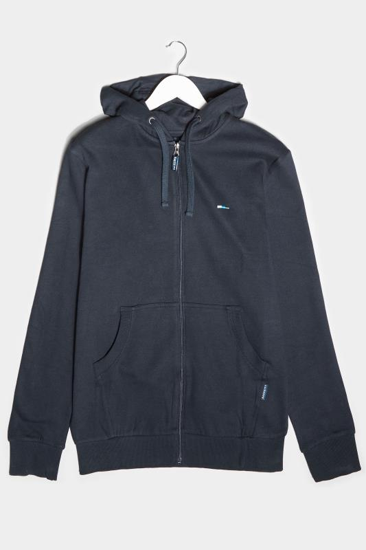 Plus Size Casual / Every Day BadRhino Navy Essential Zip Through Hoodie