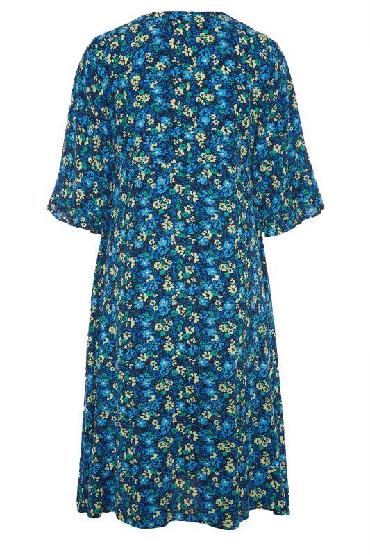THE LIMITED EDIT Blue Floral Midaxi Dress_BK.jpg