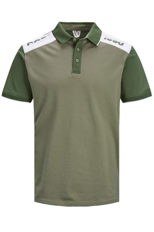 Men's  JACK & JONES Khaki Amin Polo Shirt
