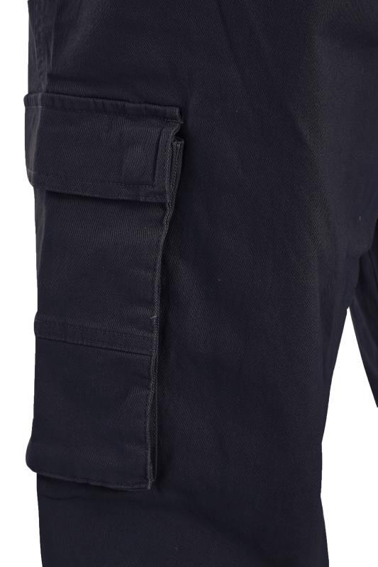 BadRhino Navy Stretch Cargo Trousers_S.jpg
