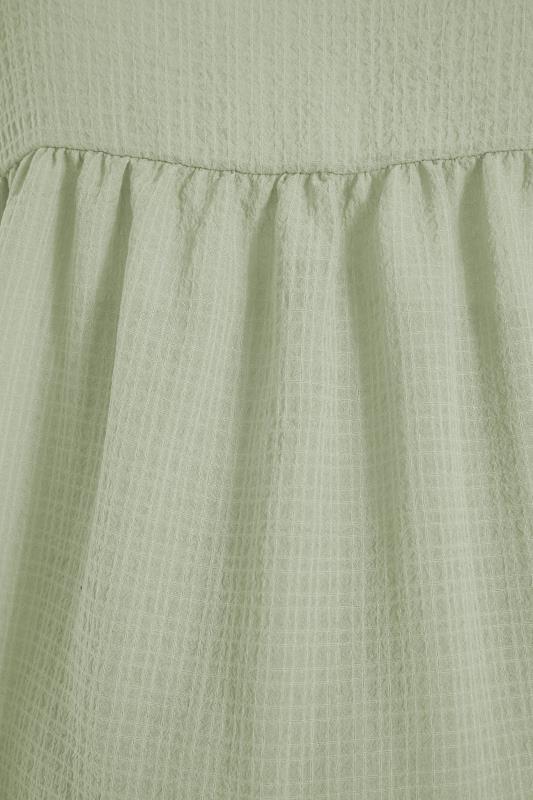 BUMP IT UP MATERNITY Sage Green Textured Puff Sleeve Smock Top_S.jpg