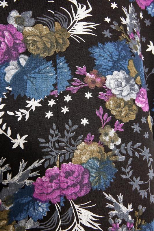 Black Floral Quarter Zip Hoodie_S.jpg