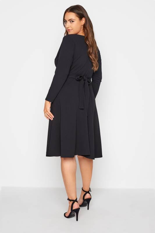 YOURS LONDON Black Wrap Midi Dress_C.jpg