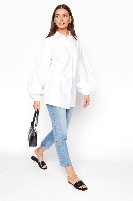 LTS White Balloon Sleeve Cotton Shirt_E.jpg