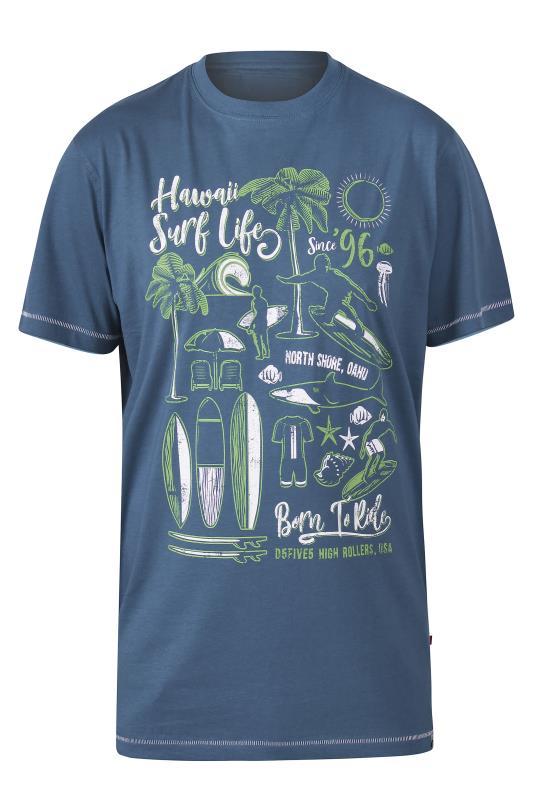 D555 Navy Hawaii Surf T-Shirt
