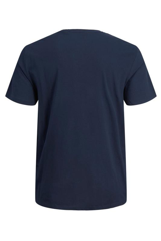 JACK & JONES Navy Camo Logo T-Shirt_BK.jpg
