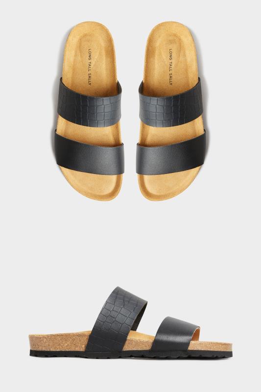 Black Leather Two Strap Footbed Sandals_split.jpg