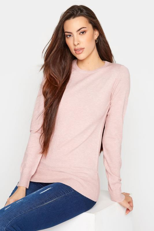 Tall  LTS Pink Knitted Jumper