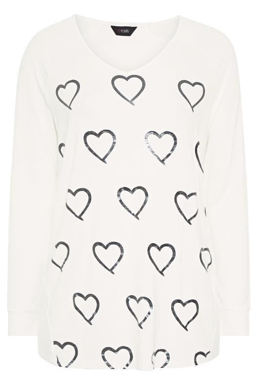 White Foil Heart Print Long Sleeve T-Shirt_F.jpg
