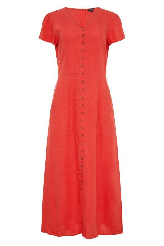 LTS Red Linen Button Front Midi Dress_F.jpg
