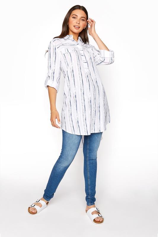 LTS White Dip Back Stripe Shirt_B.jpg