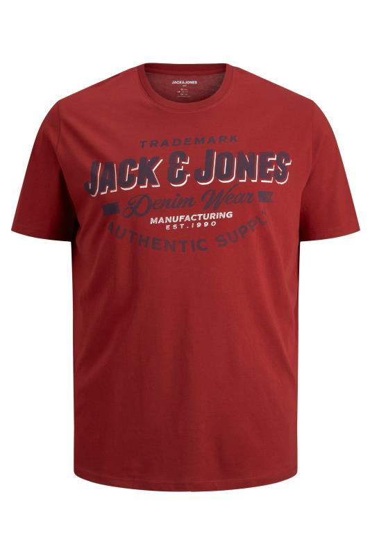 JACK & JONES Red Logo Crew Neck T-Shirt_F.jpg