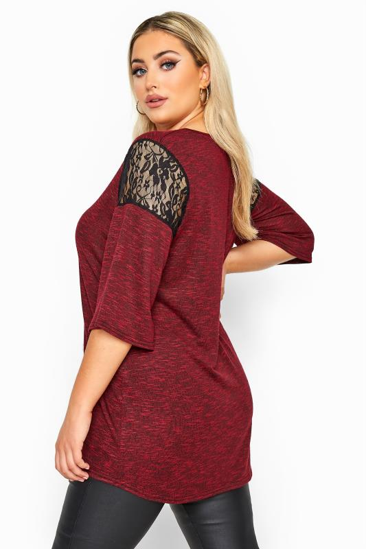 LIMITED COLLECTION Red Lace Insert Lattice Top