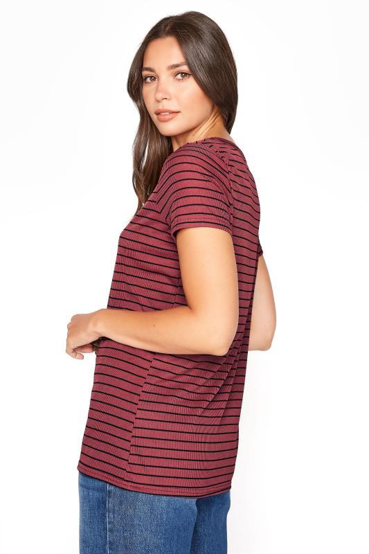 LTS Burgundy Stripe Rib T-Shirt_C.jpg