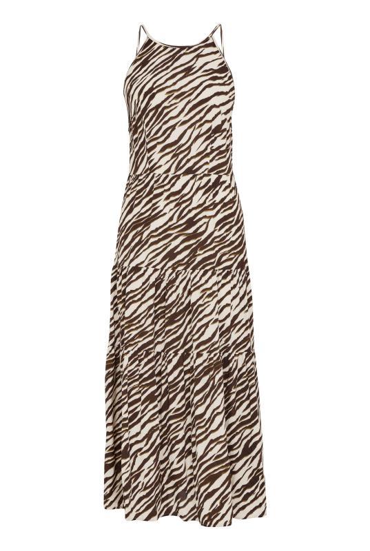 Neutral Animal Print Tiered Shirred Back Summer Dress_F.jpg