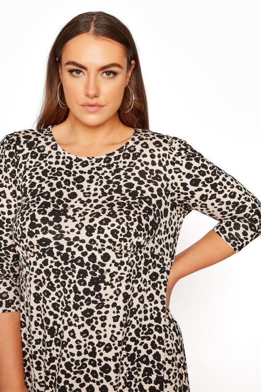 YOURS LONDON Beige Leopard Midaxi Split Dress_E.jpg