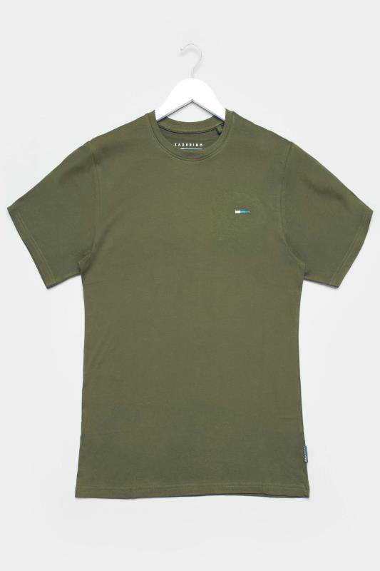 Men's Casual / Every Day BadRhino Khaki Plain T-Shirt