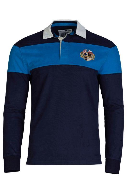 Tallas Grandes RAGING BULL Blue Colour Block Polo Shirt