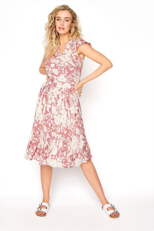 LTS Pink Tiered Frill Sleeve Floral Tunic_A.jpg