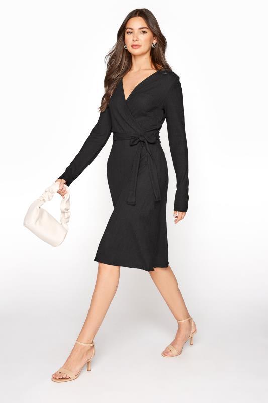 LTS Black Textured Wrap Dress_B.jpg