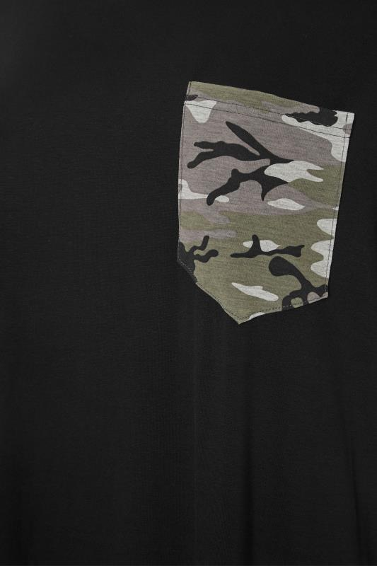 LIMITED COLLECTION Black Camo Pocket T-Shirt_S.jpg