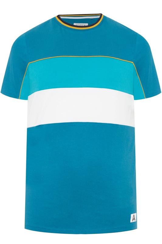 T-Shirts STUDIO A Blue Colour Block T-Shirt