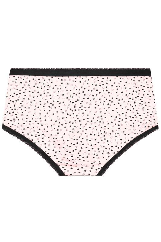 5 PACK Black & Pink Mini Heart Print Briefs_BK.jpg