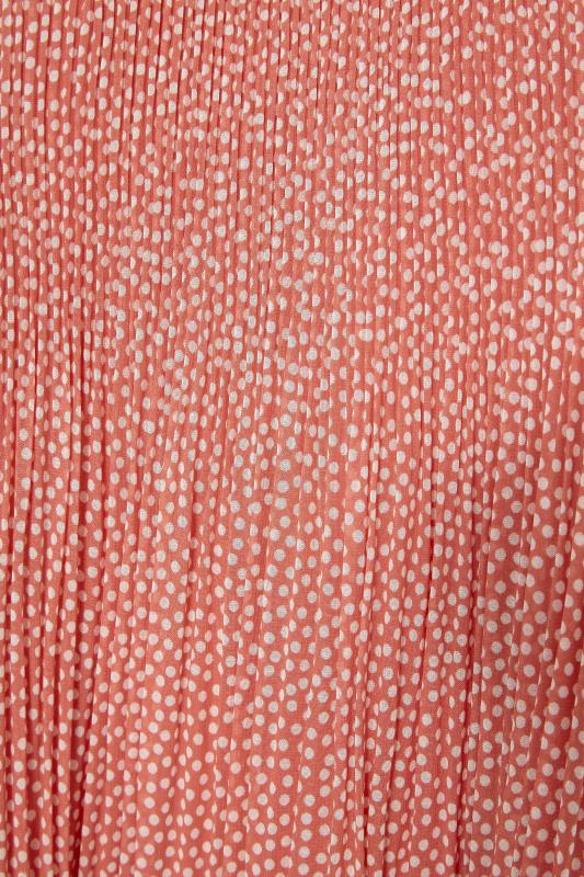 YOURS LONDON Pink Polka Dot Flared Sleeve Blouse_S.jpg
