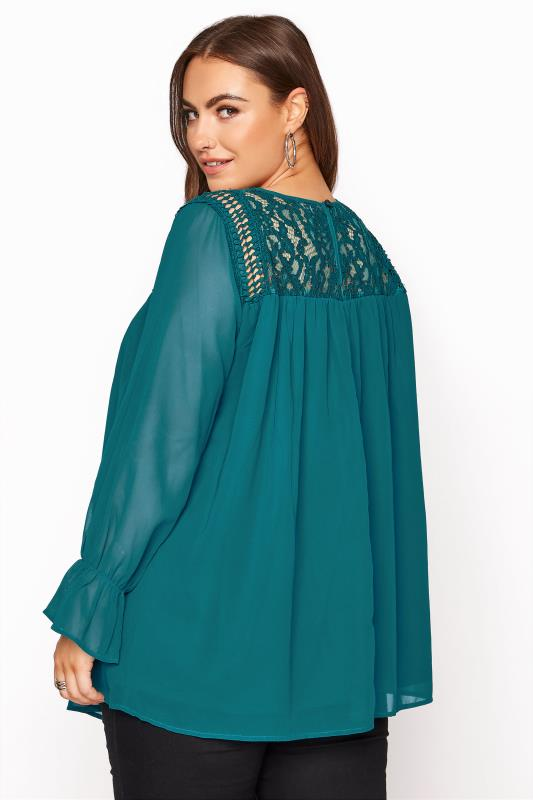 YOURS LONDON Teal Lace Blouse_C.jpg