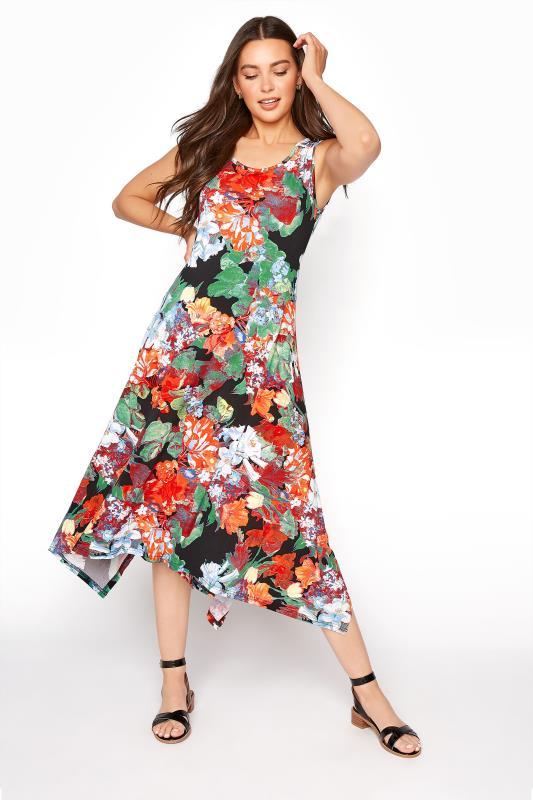 LTS Multi Floral Hanky Hem Sleeveless Dress_B.jpg