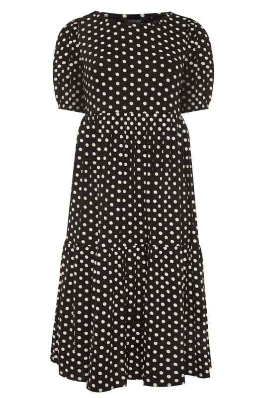 Black Puff Sleeve Polka Dot Midaxi Dress_F.jpg