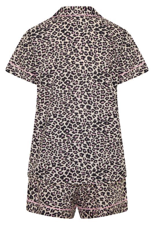 Multi Woven Leopard Print Short Pyjama Set_bk.jpg