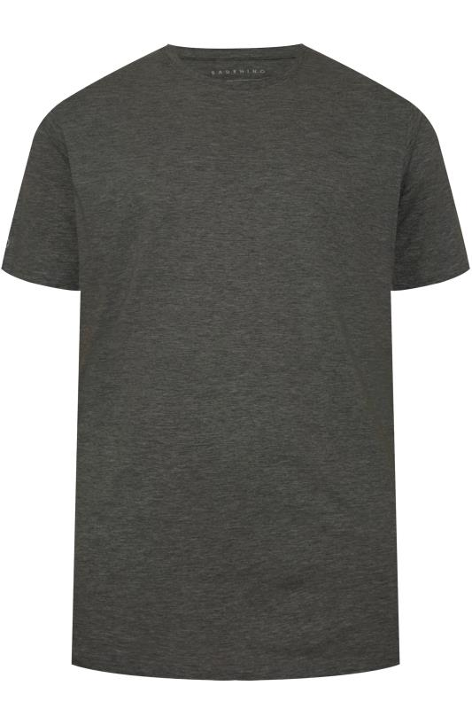 Plus Size Casual / Every Day BadRhino Charcoal Grey Embroidered Logo T-Shirt