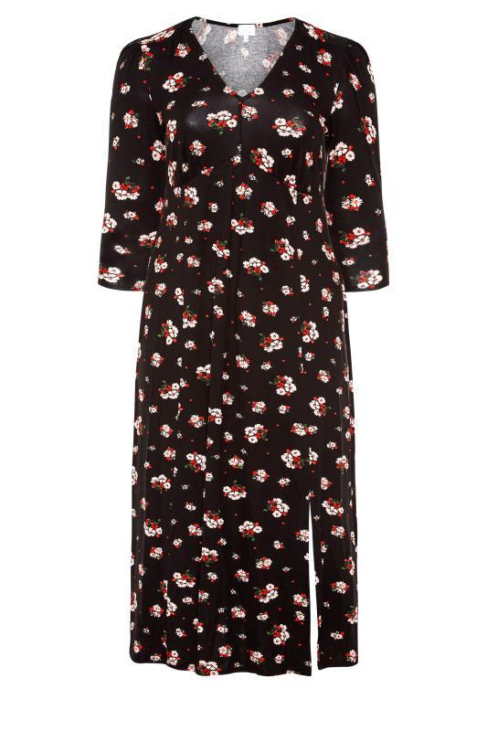 YOURS LONDON Black Floral Side Split Midaxi Dress_F.jpg