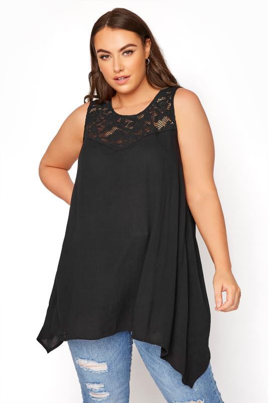 Black Lace Vest