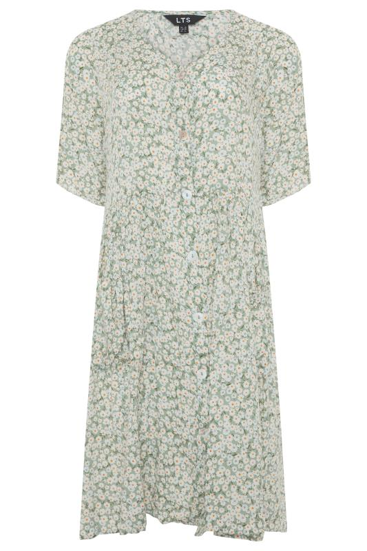 LTS Sage Green Floral Button Smock Tunic_F.jpg