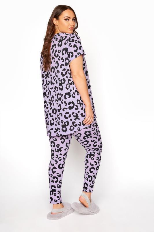 Purple Oversized Animal Print Pyjama Set_C.jpg