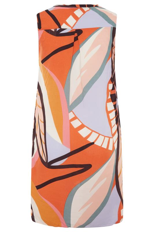 Orange Abstract Midi Dress_BK.jpg