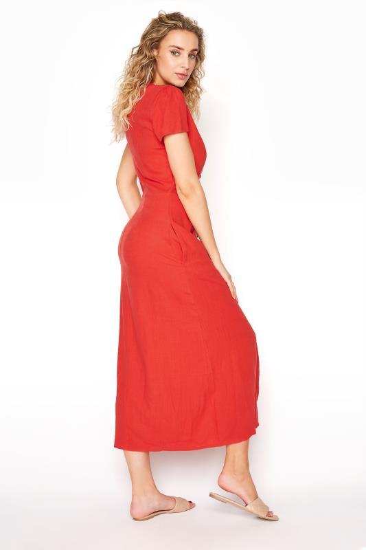 LTS Red Linen Button Front Midi Dress_C.jpg