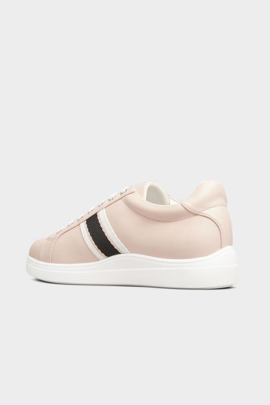 Pink Vegan Faux Leather Stripe Trainers In Extra Wide Fit_C.jpg