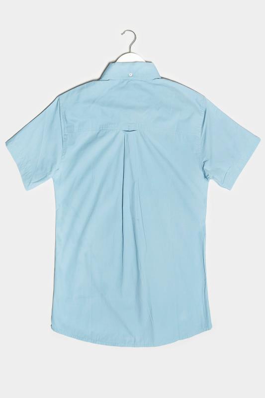 BadRhino Light Blue Cotton Poplin Short Sleeve Shirt