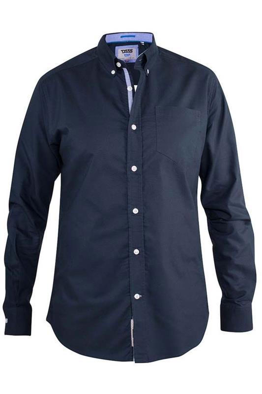 Men's  D555 Navy Clarence Oxford Shirt
