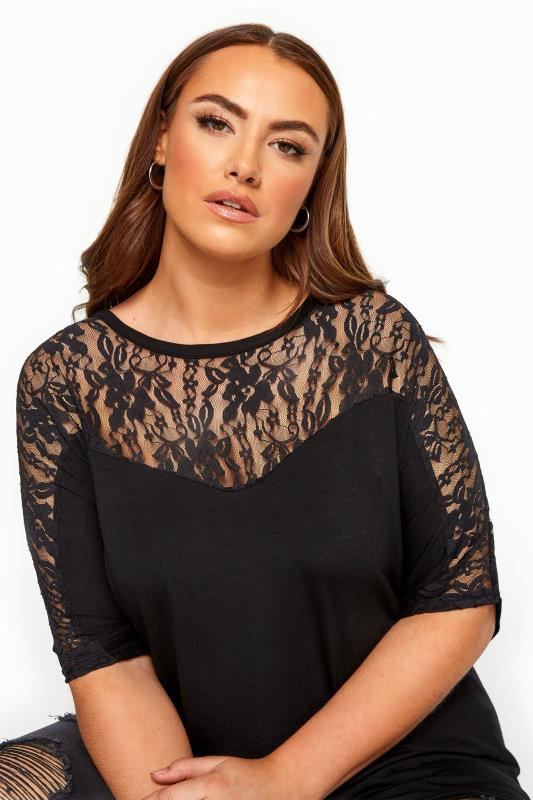 LIMITED COLLECTION Black Lace Insert Top
