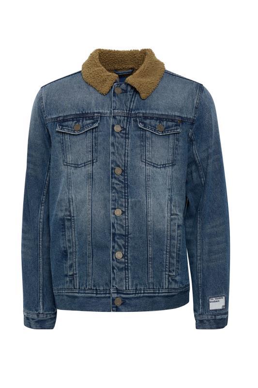 Großen Größen  BLEND Blue Borg Collar Denim Jacket