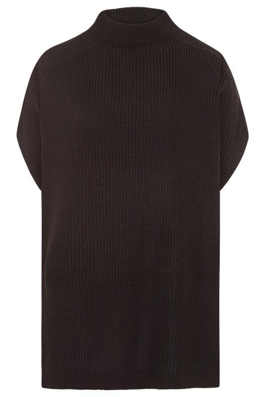 Black Longline Sleeveless Knitted Jumper_F.jpg
