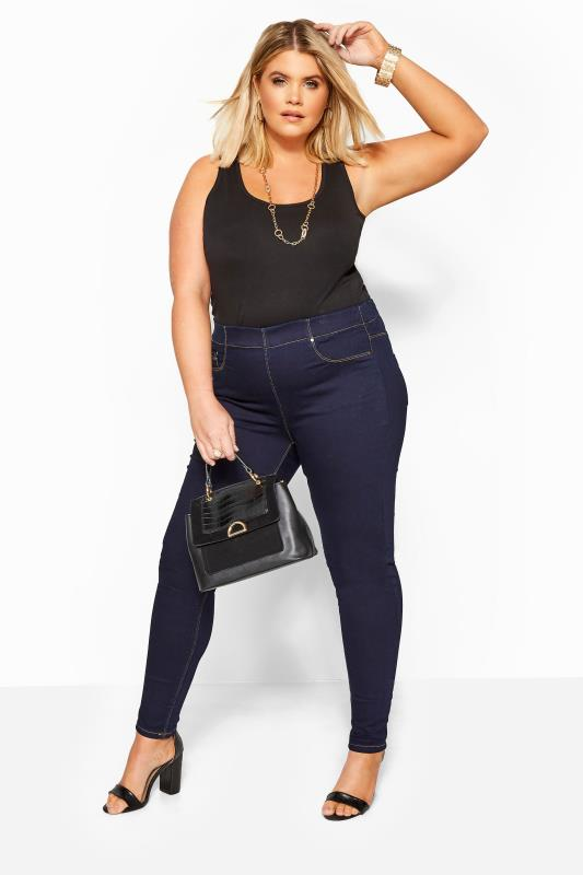 Jeggings Indigo Blue Pull On JENNY Jeggings