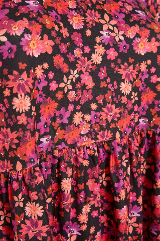 YOURS LONDON Black Floral Tunic_S.jpg