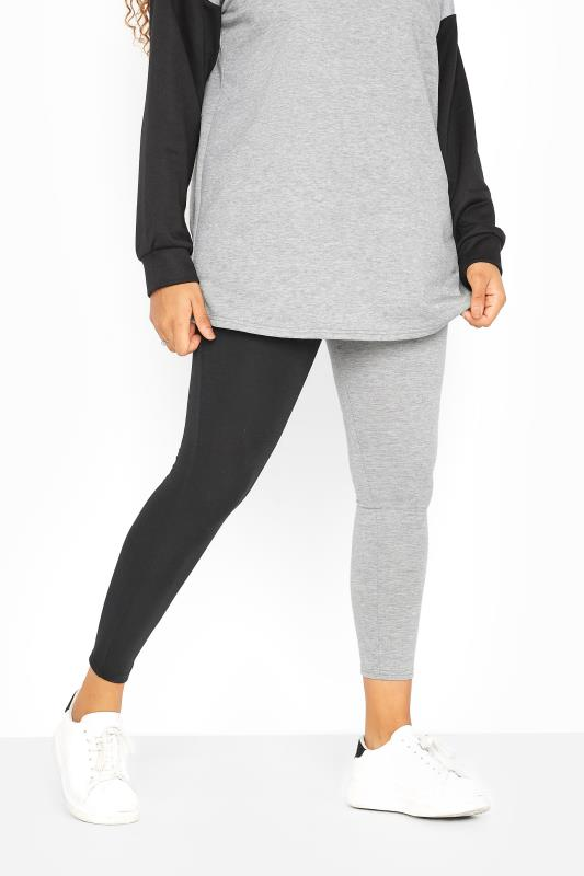 Black & Grey Contrast Leggings