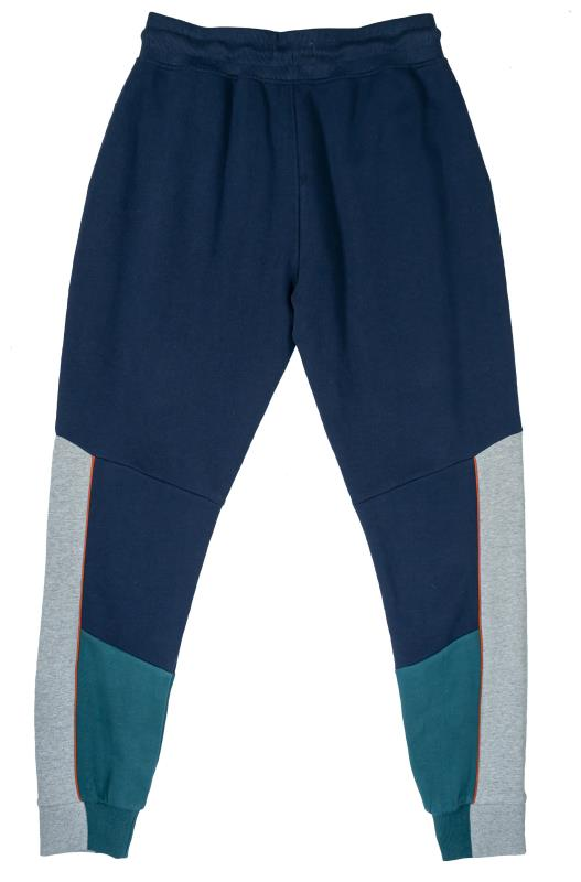STUDIO A Navy & Blue Colour Block Joggers