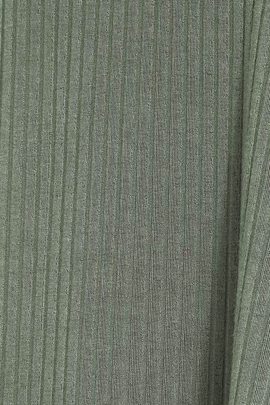Khaki Ribbed Waterfall Cardigan_S.jpg